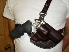 ruger redhawk alaskan chest holster up picture jr leather works - Ruger Alaskan Chest Holster