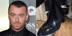 sam smith red shoes sam smith celebrates wearing heels on the carpet for time fashion model secret