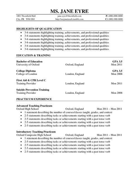 cv template volunteer experience job resume exles resume