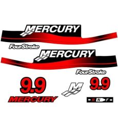 mercury outboard decal set 9 9hp ebay - Mercury Outboard Decals