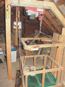 diy garage storage lift hoisting tools to the attic the garage journal board projects to try attic