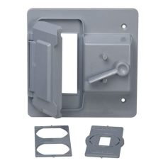 home depot receptacle cover bell 2 toggle and receptacle gfci weatherproof cover gray ptc521gyb the home depot