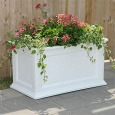 home depot patio planters mayne fairfield 36 in x 20 in white plastic planter 5826w the home depot
