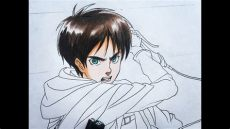 attack on titan eren drawing how to draw eren attack on titan