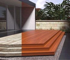 composite deck veneer lowes ideas tips stained decks lowes and decking