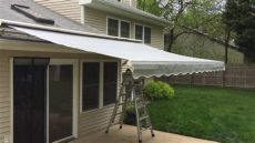 sunsetter awning replacement fabric sunsetter laminated fabric retractable awning in middletown nj 07748