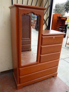 modelos de roperos de madera con espejo ropero comoda con espejo s 375 00 en mercadolibre