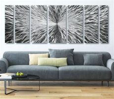 large modern metal wall in silver contemporary etsy - Extra Large Metal Wall Art Uk