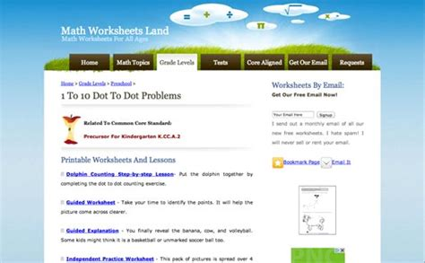 math worksheets land edshelf