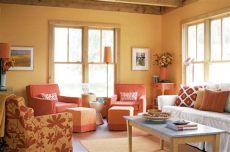 10 salas color naranja salas con estilo - Decoracion De Salas Pequenas Modernas Color Naranja