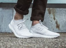 white adidas ultra boost on feet an on look at the adidas ultra boost uncaged white 2 0 kicksonfire