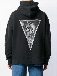 rhude clothing uk rhude cotton digital print hoodie in black for lyst