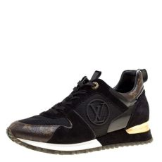 louis vuitton shoes sneakers price buy louis vuitton brown black monogram canvas and suede run away lace up sneakers size 39 162015