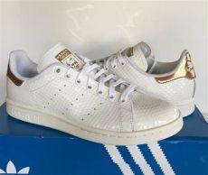 stan smith shoes womens adidas womens original stan smith shoes sneakers white copper metallic gold ebay