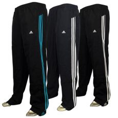 adidas bottoms mens mens adidas 3 stripe tracksuit track pant jog open hem bottoms sizes s ebay
