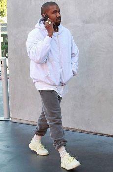 kanye west unreleased yeezy boost 350 v2 sneaker bar detroit - Kanye West Wearing Yeezy 350 V2