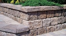 how to build a cinder block retaining wall with rebar allstateloghomes - Decorating Ideas For Concrete Block Walls