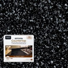 rustoleum charcoal countertop transformation kit review rust oleum transformations 48 oz charcoal small countertop kit 258512 the home depot