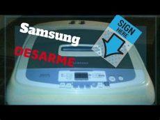 como desarmar una lavadora samsung digital - Como Programar Una Lavadora Digital Samsung