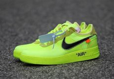 white nike air 1 low black volt info sneakernews - Nike Off White Air Force 1
