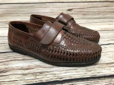 haband mens slippers mens s den by haband brown woven leather loafers shoes size 9 eee x wide ebay