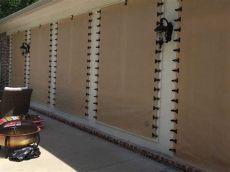 astroguard hurricane fabric installation wood installation multipe openings hurricane fabric