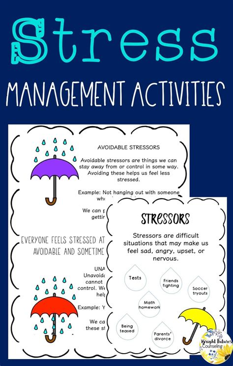 relieving managing stress counseling games activities images stress