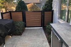 metal gate frame for horizontal wood fence how to build a horizontal slat fence the easy way