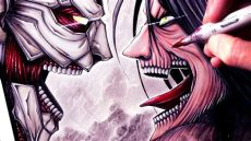 attack on titan eren jaeger drawing let s draw eren jaeger vs armored titan attack on titan fan friday