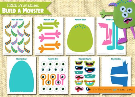 free printable monster cutouts