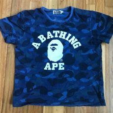 bape shirts navy blue camo tshirt poshmark - Bape Blue Camo T Shirt