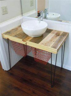 pallet wood bathroom vanity diy pallet wood vanity 101 pallets