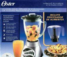 licuadora oster con procesador de alimentos licuadora oster 16 velocidades con procesador de alimentos 1 178 00 en mercado libre