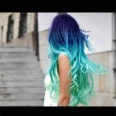 haare mit directions blau t 252 rkis bzw lila t 246 nen farbverlauf - Directions Haare Farben