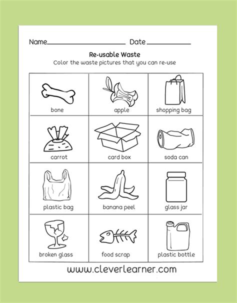 pin clever learner preschool science activity worksheet science