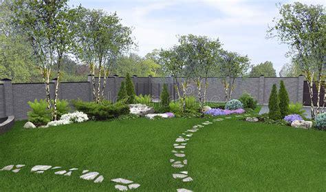 backyard horticultural background 3d render stock illustration illustration