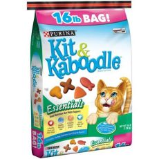 kit and kaboodle purina kit kaboodle essentials cat food 16 lb bag walmart