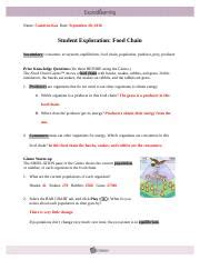 foodchaintg teacher guide food chain learning objectives students