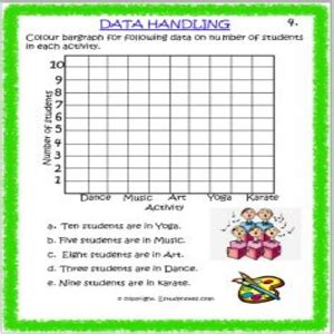 maths data handling worksheets class 3 estudynotes