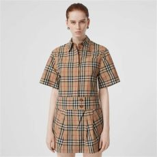 vintage burberry shirt womens sleeve vintage check shirt dress in archive beige burberry united states