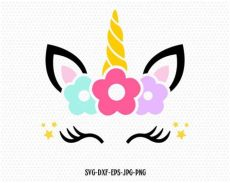 unicorn with lashes unicorn svg unicorn eyelashes unicorn birthday svg magical etsy
