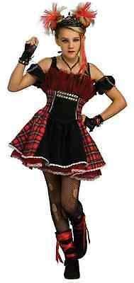 punk ballerina rock star girl plaid fancy dress