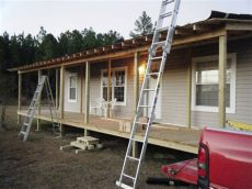 9 beautiful manufactured home porch ideas mobile home living - How To Build A Porch Off A Mobile Home