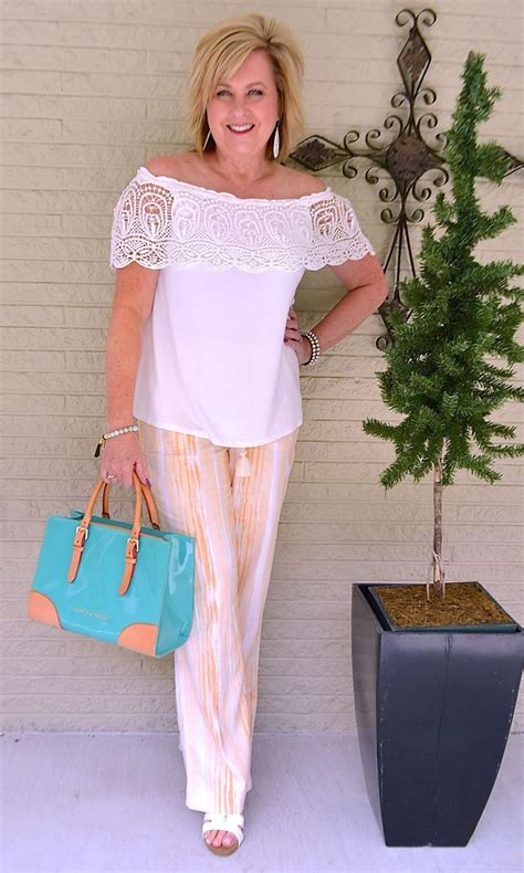 linen lace 50 shoulder feminine turquoise summer fashion