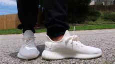 yeezy 350 cream on feet how i lace my adidas yeezy 350 boost v2 sneaker on review