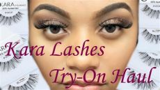 1 dollar lashes try on haul shopmissa - Kara Lashes Review