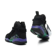 air jordan 8 black purple green air 8 stylish high black green purple black sneakers for