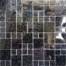 black sparkle wall tiles glass random mix mosaic wall tiles black glitter feature wall diy bathroom 011 ebay