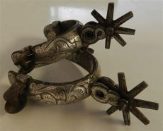 espuelas charras precios espuelas antiguas damasquinadas gran detalle u s 890 00 en mercadolibre