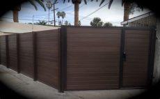 metal frame for wooden fence steel framed wood sliding gates